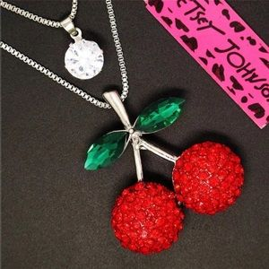 Betsey Johnson Cherry Necklace